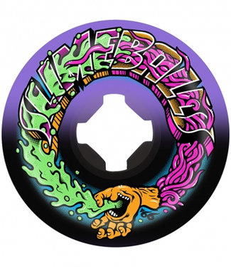 Santa Cruz 53mm 99A Greetings Speed Balls Purple Black Skateboard Wheels