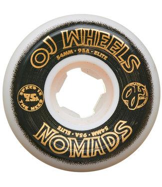 OJ Wheels Elite Nomads 54mm 95A White Wheels