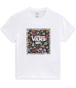 Vans Girls Print Box Floral White T-Shirt