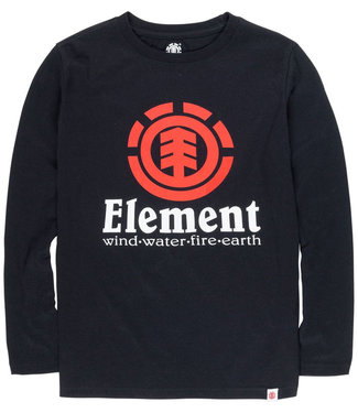 Element Vertical Youth Flint Black Longsleeve T-Shirt