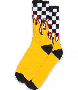 Vans Flame Checker Crew Black/White Socks