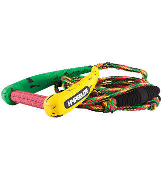 Hyperlite 25' Pro Rasta Surf Rope with handle Package
