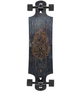 "Landyachtz 37"" Drop Hammer Black Pinecone Drop Through Longboard Complete"