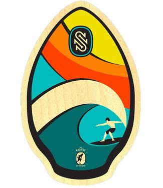 """Skim1 30"""" Kauai Rainbow Wood Skimboard"""