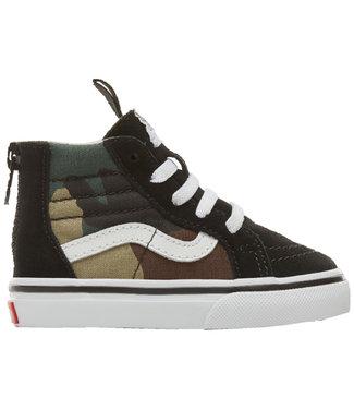 Vans Toddler Sk8-Hi Zip Woodland Camo Shoe