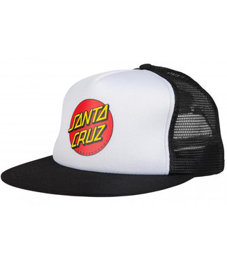 Santa Cruz Adult Classic Dot Mesh Cap White/Black