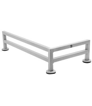 """Teak Tuning 11"""" Fence Style L-Shaped Fingerboard Steel Rail Grey Mist"""