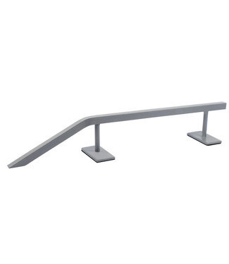 "Teak Tuning 12.5"" Steel Fingerboard Rail with Pole Jam Entrance Silver Grey"