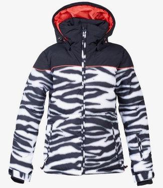 DC Snow Diva Zebra White Snowboard Jacket