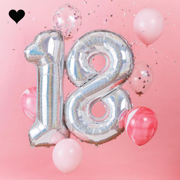 18 jaar ballonnenset - Ginger Ray-2
