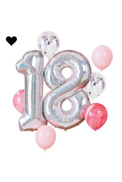 18 jaar ballonnenset - Ginger Ray