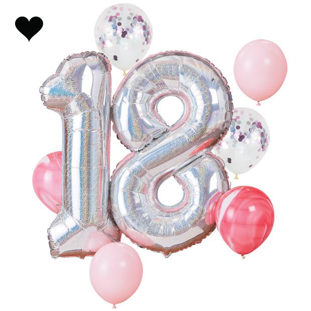 18 jaar ballonnenset - Ginger Ray-1