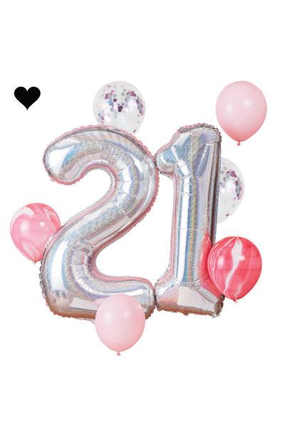 21 jaar ballonnenset - Ginger Ray