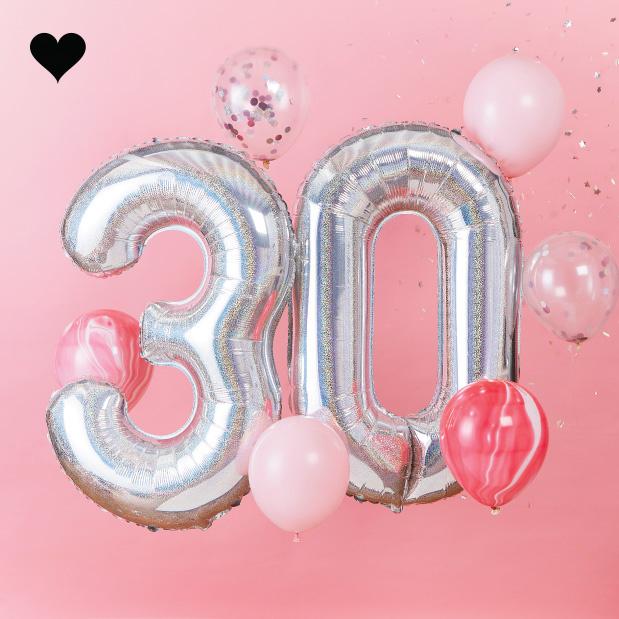 30 jaar ballonnenset - Ginger Ray-2