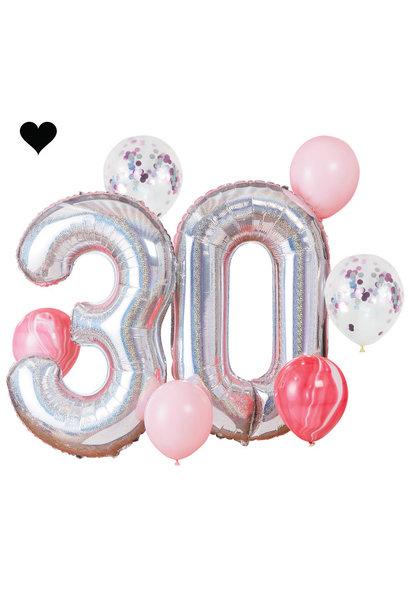 30 jaar ballonnenset - Ginger Ray