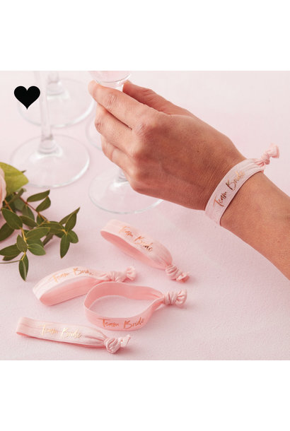 Armbandjes Team Bride Floral Hen Party (5 st) - Ginger Ray