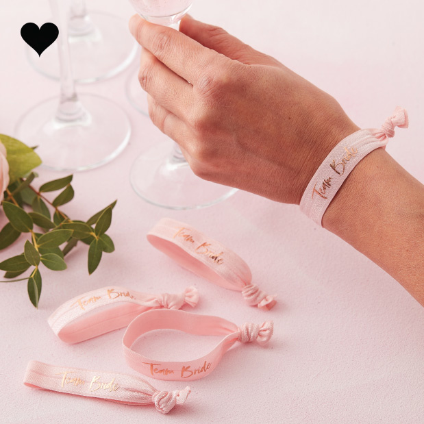 Armbandjes Team Bride Floral Hen Party (5 st) - Ginger Ray-1