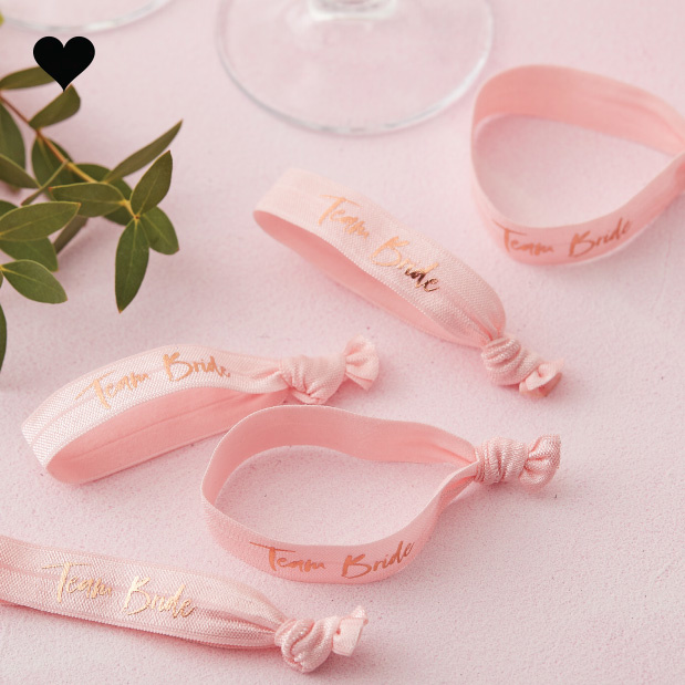 Armbandjes Team Bride Floral Hen Party (5 st) - Ginger Ray-2