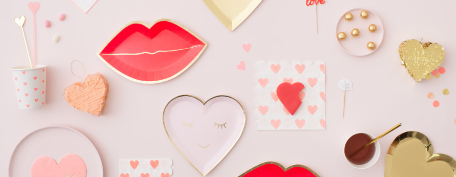 Valentijns versiering en Valentijn hartjes voor de mooiste Valentijnsdag