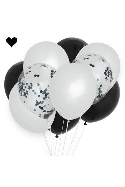 Ballonnenmix  monochrome (10st)