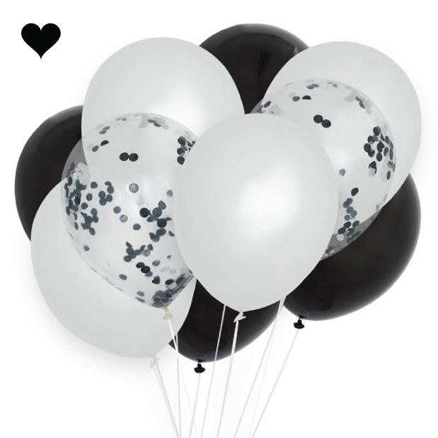 Ballonnenmix  monochrome (10st)-1