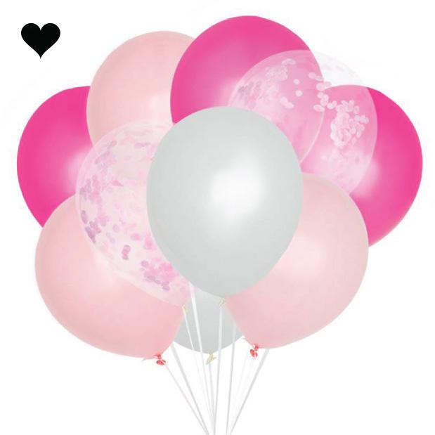 Ballonnenmix roze (10st)-1