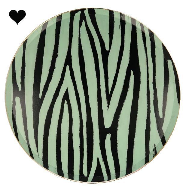 Gebaksbordjes Safari Animal print (8st) - Meri Meri-4