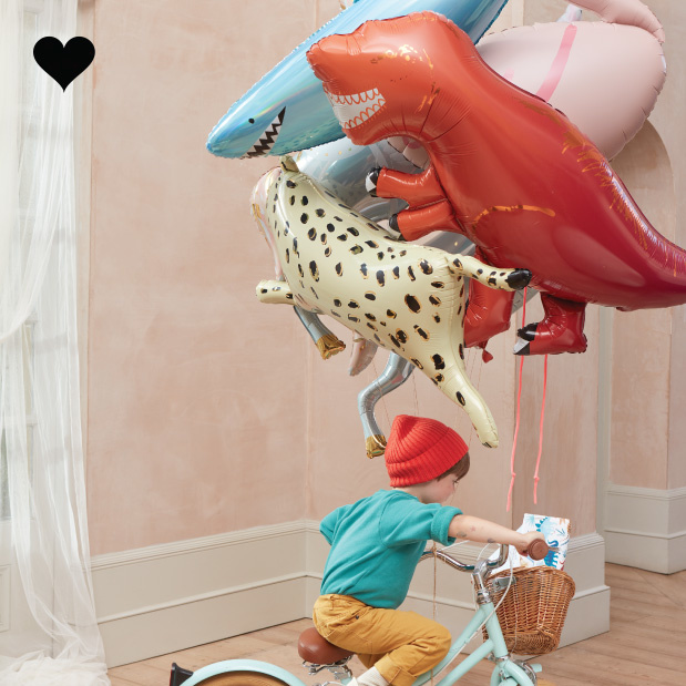 Folieballon Cheetah Safari Animals - Meri Meri-2