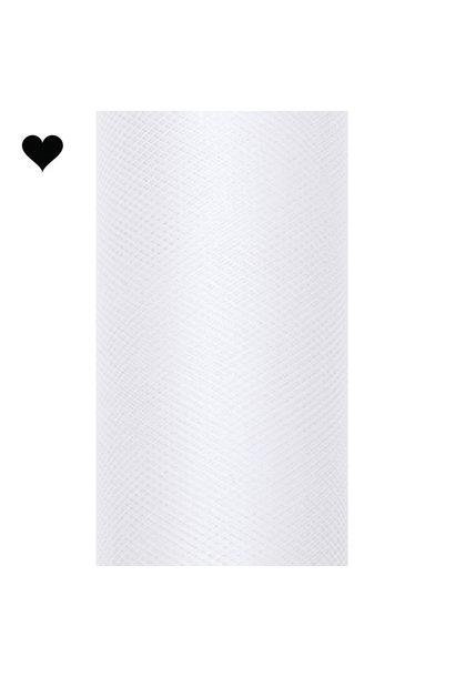 Tule op rol wit 15 cm (9m)