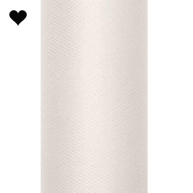 Tule op rol ivoor 15 cm (9m)-1