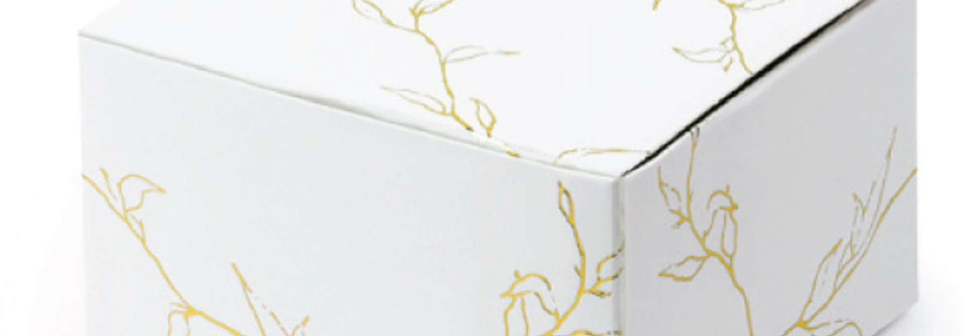 Bedankdoosjes gold branches (10st)