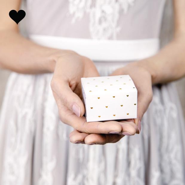 Bedankdoosjes hearts gold (10st)-2