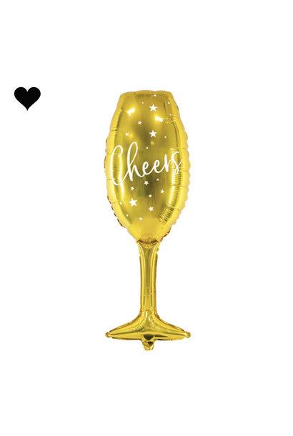 Champagneglas folieballon (80 cm)