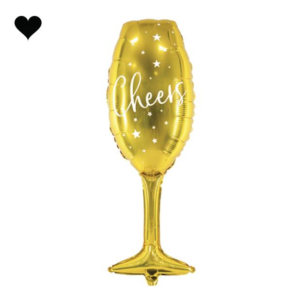 Champagneglas folieballon (80 cm)-1