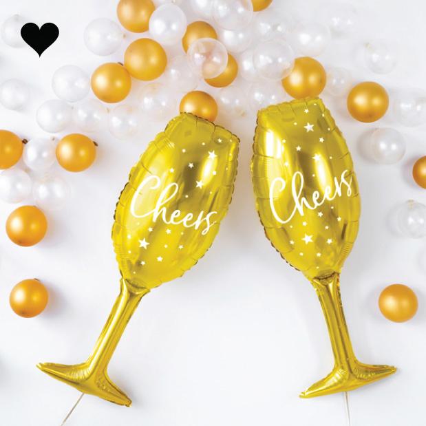 Champagneglas folieballon (80 cm)-2