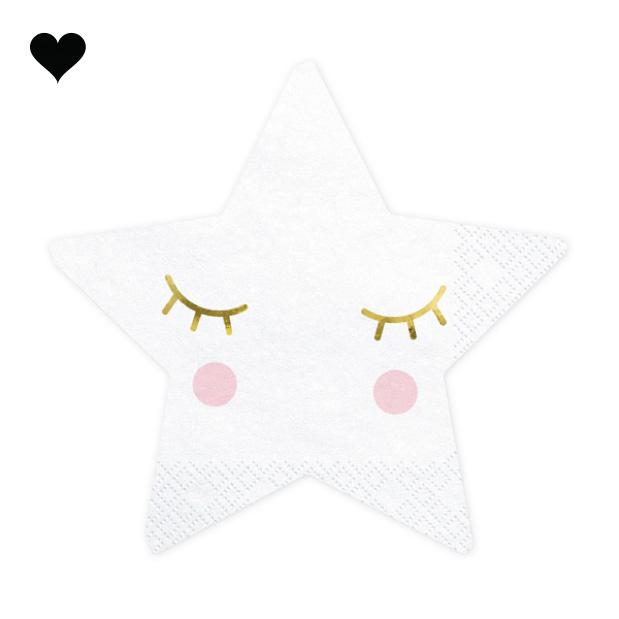 Servetten sterren (20st) - Hello Baby-1