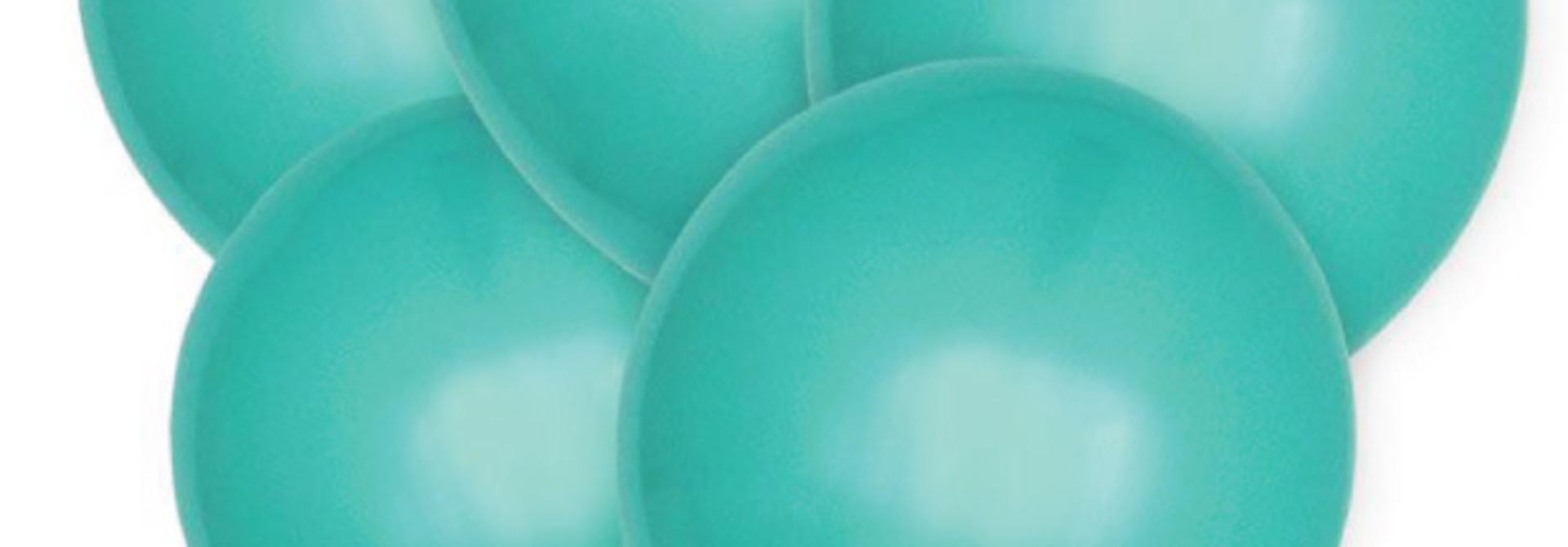 Ballonnen aquamarine (10 st)
