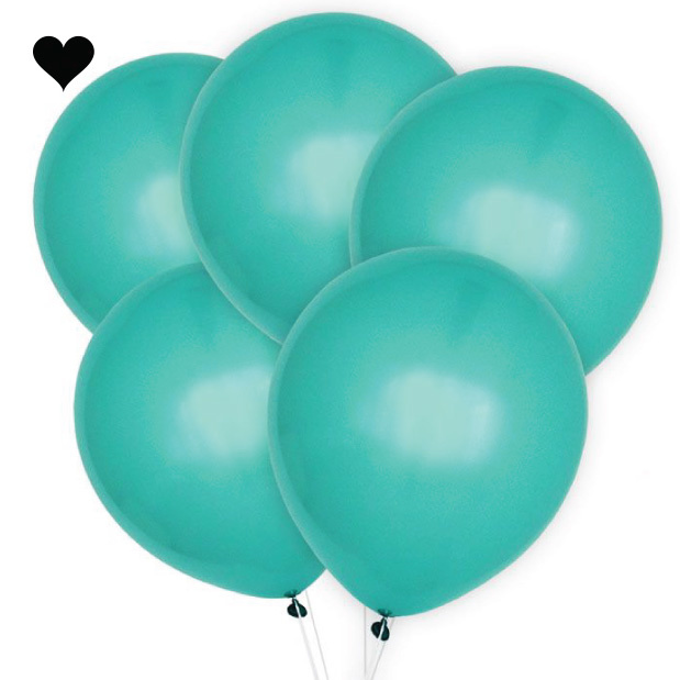 Ballonnen aquamarine (10 st)-1