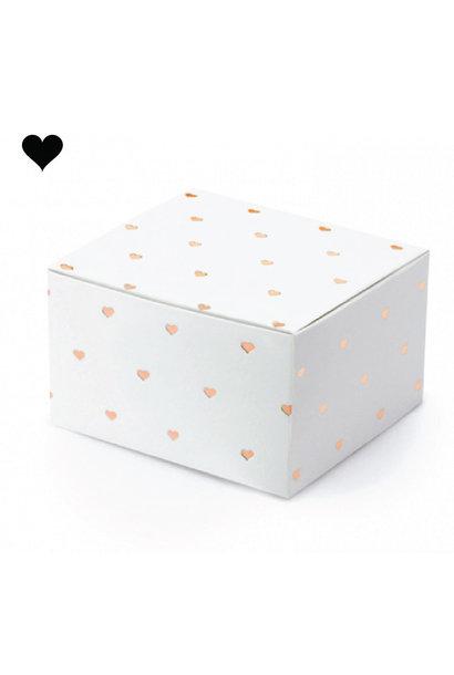 Bedankdoosjes hearts rosegold (10st)