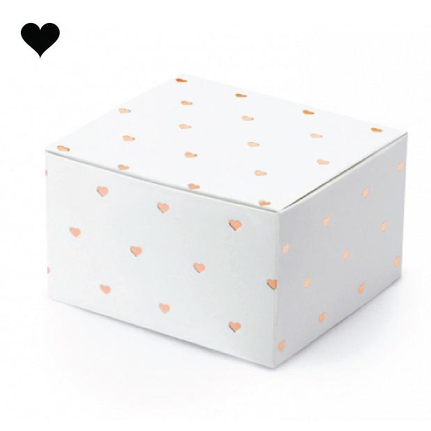 Bedankdoosjes hearts rosegold (10st)-1