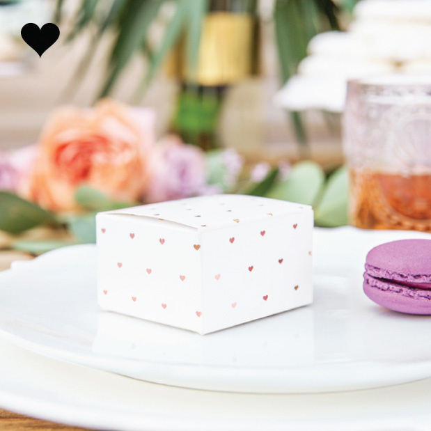 Bedankdoosjes hearts rosegold (10st)-2
