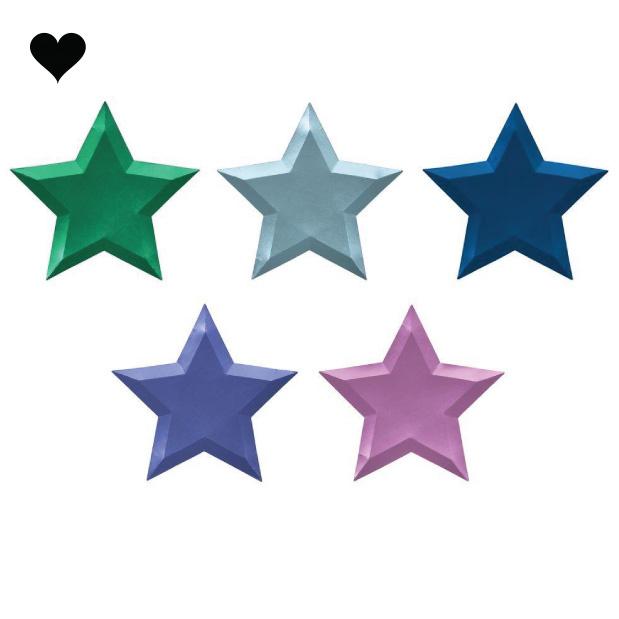 Borden ster metallic (8 st) – Meri Meri-7
