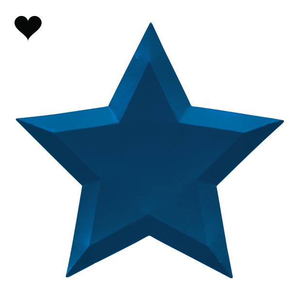 Borden ster metallic (8 st) – Meri Meri-4
