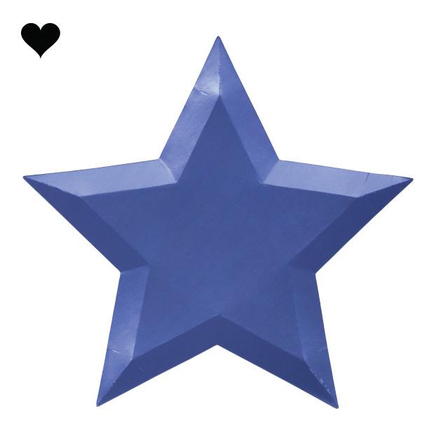 Borden ster metallic (8 st) – Meri Meri-5