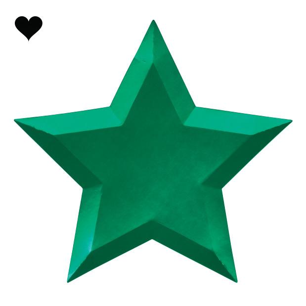 Borden ster metallic (8 st) – Meri Meri-6