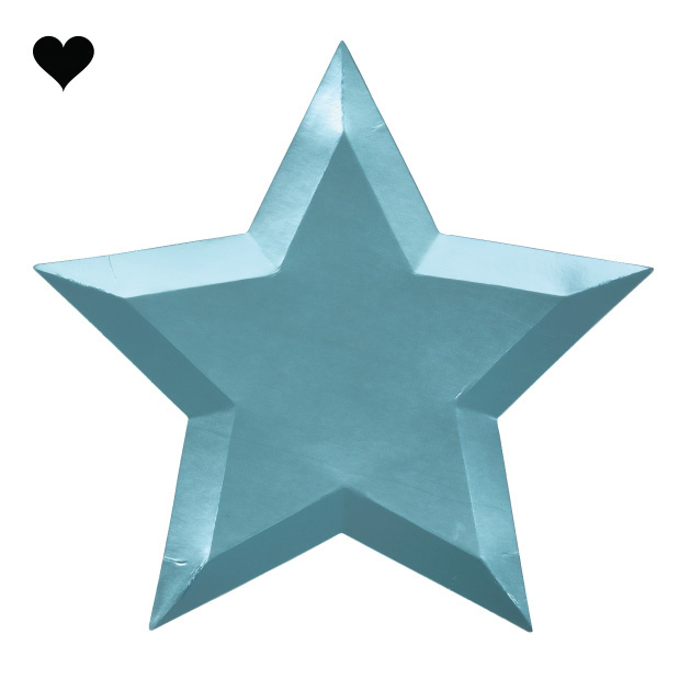 Borden ster metallic (8 st) – Meri Meri-2