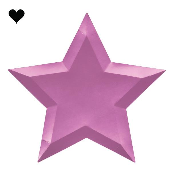 Borden ster metallic (8 st) – Meri Meri-3