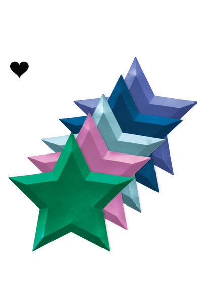 Borden ster metallic (8 st) – Meri Meri