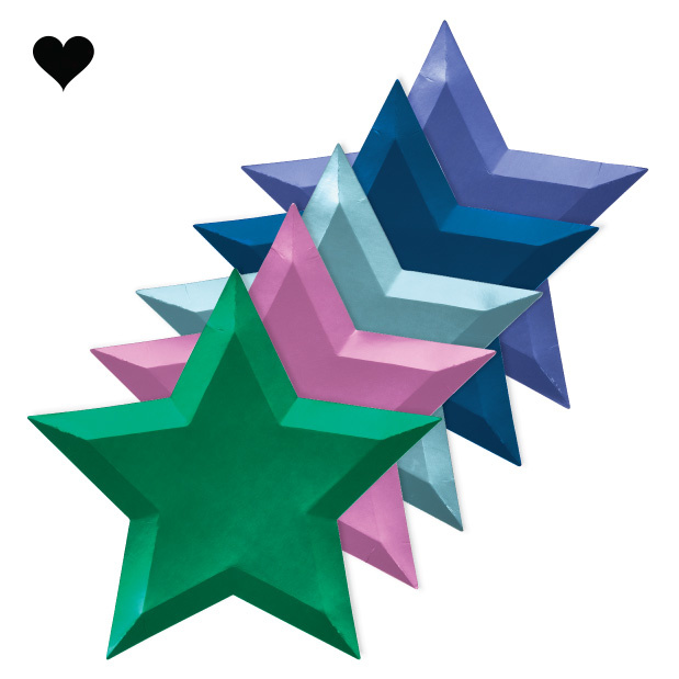 Borden ster metallic (8 st) – Meri Meri-1