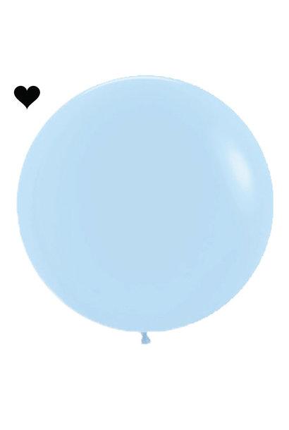 Ballon Pastel Mat Blauw (60cm)